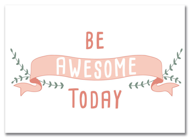 """Motivationskarte von Local & Urban """"Be Awesome Today"""""""