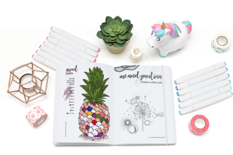 Mood Ananas und Mood Tracker im Daily Journal my life my bullets. Bullet Journal Ideen